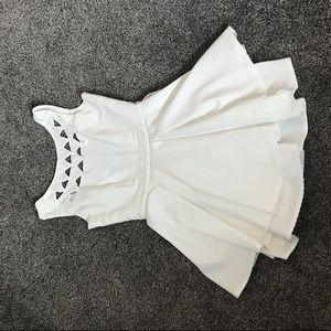 Lulu's white mini-dress
